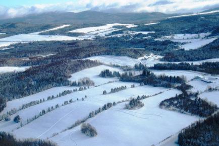 Un vol sublime en hiver dans Charlevoix