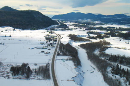 Survolez Charlevoix en hiver